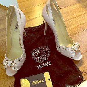 Authentic Versace Kitten Heel - light pink 6.5